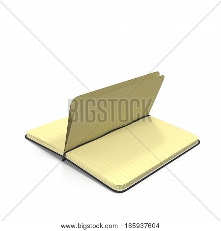 Open Journal on white background. 3D illustration