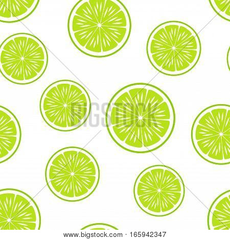 Lime.Citrus Background.Vector seamless pattern. Endless texture can be used for wallpaper, printing on fabric, paper, scrapbooking.
