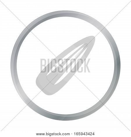 Hairpin icon in cartoon style isolated on white background. Make up symbol vector illustration.
