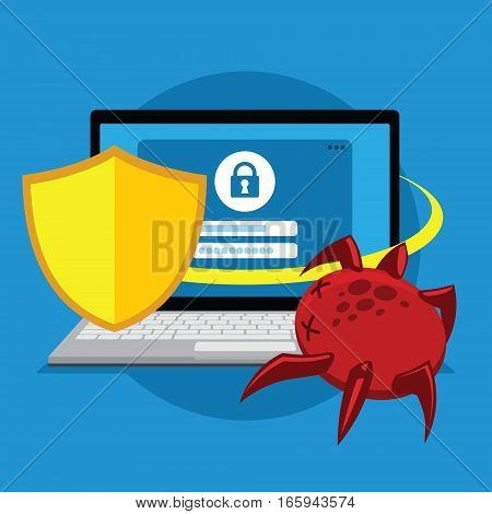 system protection for account from virus illustration vector