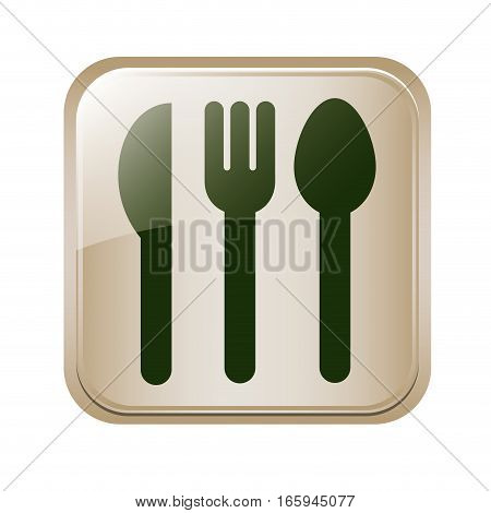 square button set collection cutlery vector illustration