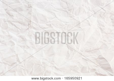 Texture of crumpled paper. Crumpled paper patterns. White crumpled paper list background.
