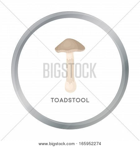 Toadstool icon in cartoon style isolated on white background. Mushroom symbol vector illustration.