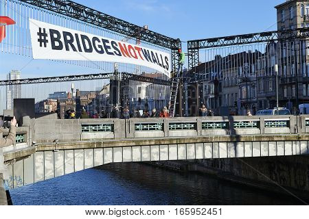 People Will Gather At Chaussée De Gand Bridge In Brussels To Protest Against Fascism