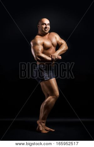 Strong Man With Perfect Abc, Shoulders, Biceps, Triceps And Chest