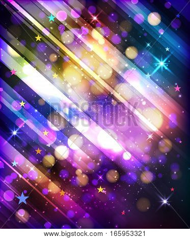 Abstract bright  texture, multicolored bokeh vector background