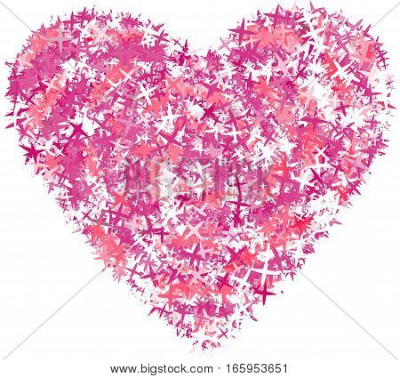 Abstract bright colorful heart illustration. Stylized Valentine's Day symbol.