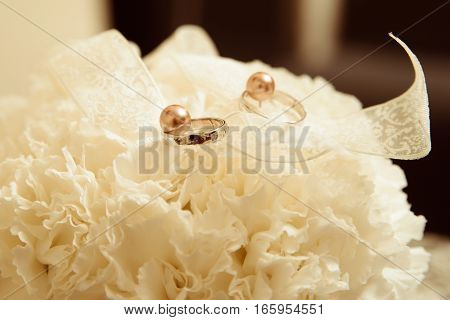 Stylich wedding decoration for young beautiful couple
