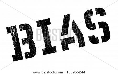Bias rubber stamp. Grunge design with dust scratches. Effects can be easily removed for a clean, crisp look. Color is easily changed.