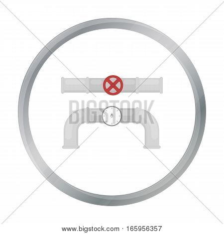 Valve and meter icon in cartoon style isolated on white background. Plumbing symbol vector illustration.