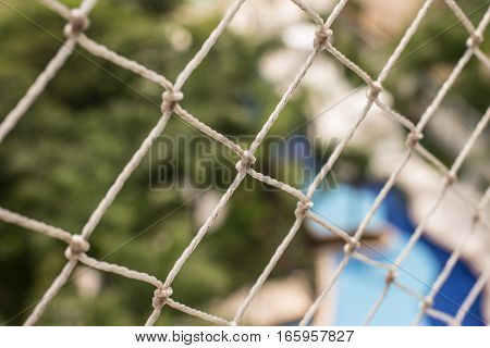 Security Net for Balcony. Security for children and pets in buildings