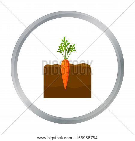 Carrot icon cartoon. Single plant icon from the big farm, garden, agriculture cartoon. - stock vector