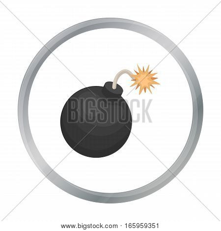 Pirate grenade icon in cartoon style isolated on white background. Pirates symbol vector illustration.