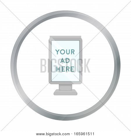 Banner frame icon in cartoon style isolated on white background. Park symbol vector illustration.