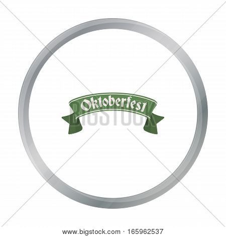 Oktoberfest banner icon in cartoon style isolated on white background. Oktoberfest symbol vector illustration.