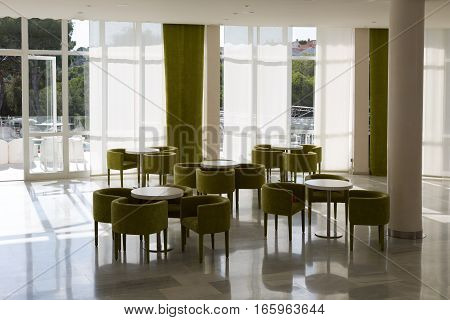 interior of the lobby Mallorca Spain  contemporary