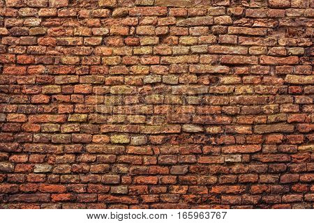 old brick wall texture background closeup detail