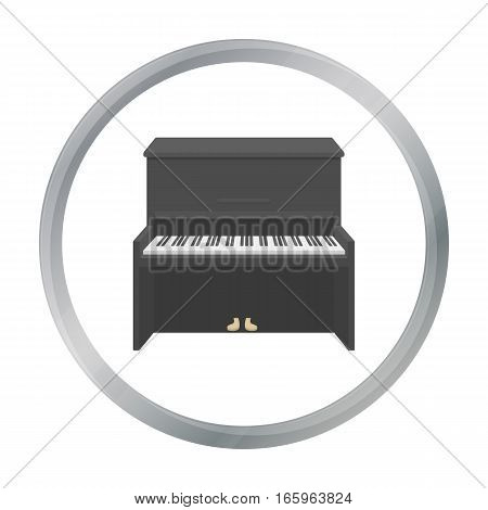 Piano icon in cartoon style isolated on white background. Musical instruments symbol vector illustration