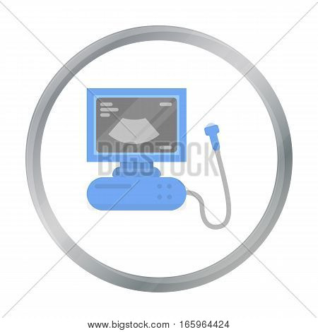 Ultrasound diagnostic icon in cartoon style isolated on white background. Pregnancy symbol vector illustration.