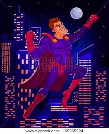 illustration of a superhero aspiring to the target
