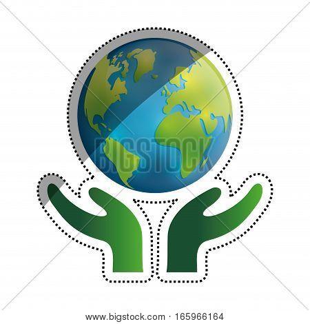 Save the world icon vector illustration graphic design
