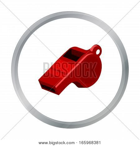 Whistle icon cartoon. Single sport icon from the big fitness, healthy, workout cartoon. - stock vector