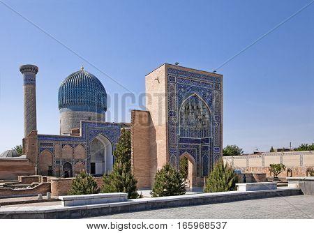View of Gur-e-Amir Mausoleum - tomb of Timur - Samarkand, Uzbekistan