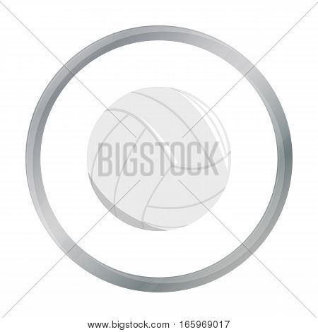 Volleyball icon cartoon. Single sport icon from the big fitness, healthy, workout cartoon. - stock vector