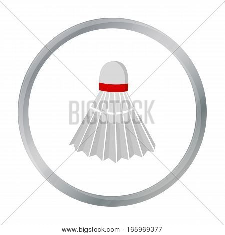 Badminton icon cartoon. Single sport icon from the big fitness, healthy, workout cartoon. - stock vector