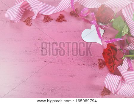 Valentine Pink Wood Background