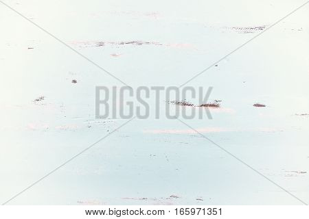 Pale Blue Rustic Wood Background With White Vignette.