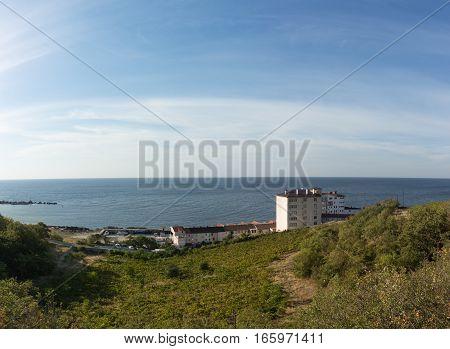 Yacht club on the shores of the Black sea Crimea