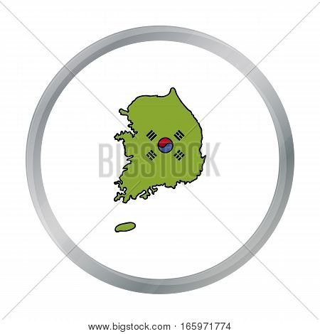 South Korea icon in cartoon style isolated on white background. South Korea symbol vector illustration.