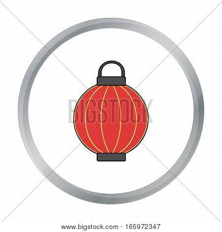 Korean lantern icon in cartoon style isolated on white background. South Korea symbol vector illustration.