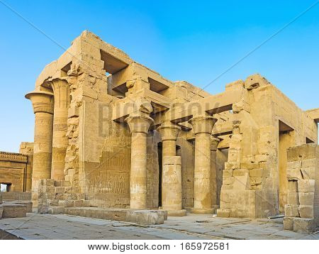The Inner Hypostyle Hall Of Kom Ombo