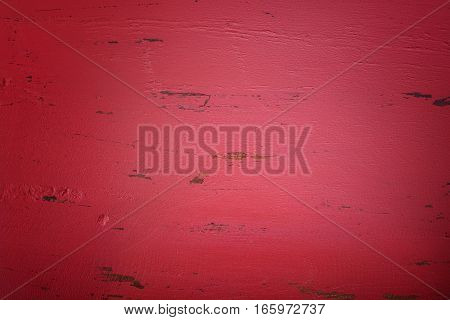 Red Rustic Wood Background, With Applied Dark Vignette Filters.