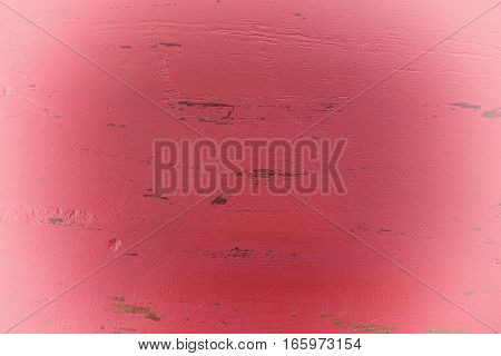 Red Rustic Wood Background With White Vignette.