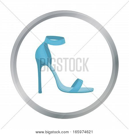 Ankle straps icon in cartoon style isolated on white background. Shoes symbol vector illustration.