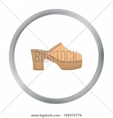Klogs icon in cartoon style isolated on white background. Shoes symbol vector illustration.