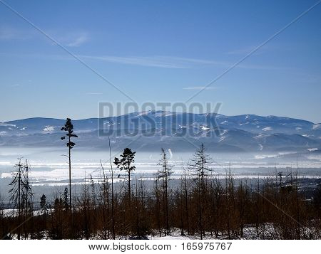 High Tatras 13 years after windstorm , High Tatras - Slovakia , Beautiful winter landscape in the mountains ,