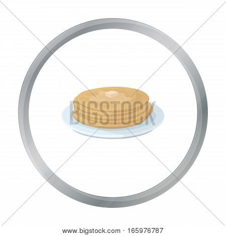 Russian pancakes icon in cartoon design isolated on white background. Russian country symbol stock vector illustration.