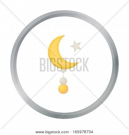 Crescent and Star icon in cartoon style isolated on white background. Religion symbol vector illustration.