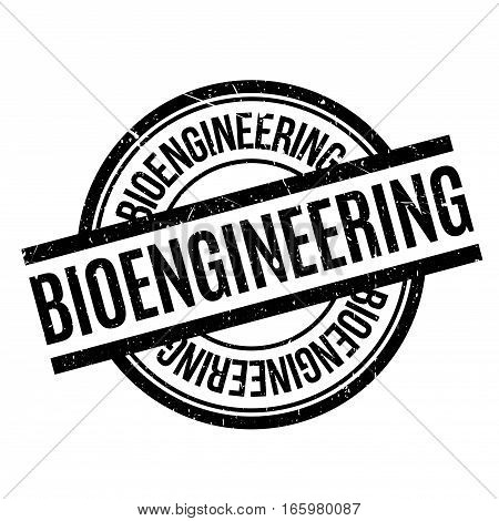 Bioengineering rubber stamp. Grunge design with dust scratches. Effects can be easily removed for a clean, crisp look. Color is easily changed.