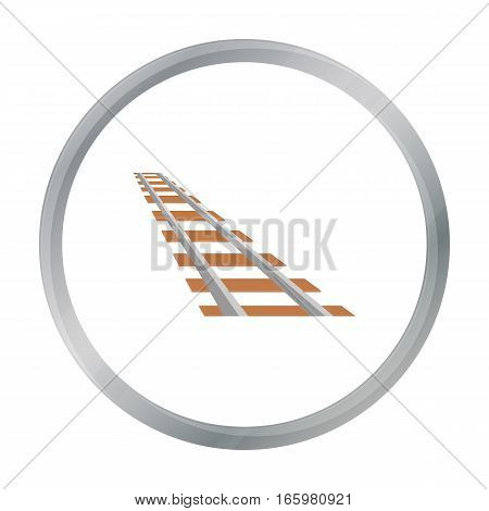 Rails icon cartoon. Singe western icon from the wild west cartoon. - stock vector