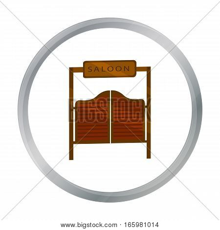 Saloon icon cartoon. Singe western icon from the wild west cartoon. - stock vector