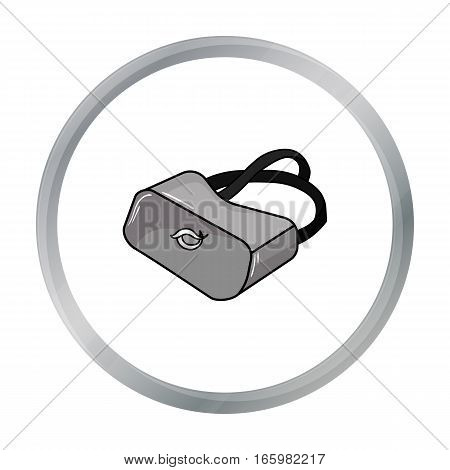 Virtual reality glasses icon in cartoon style isolated on white background. Virtual reality symbol vector illustration.