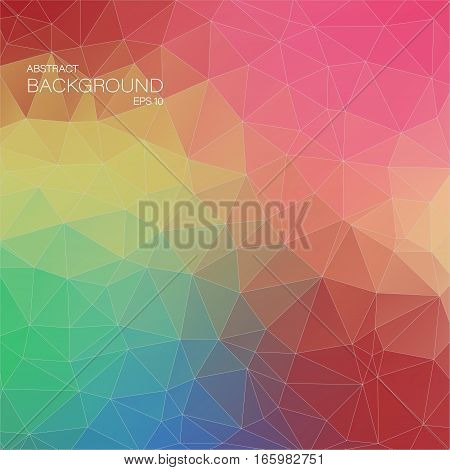 Abstract 2D geometric colorful background for web design