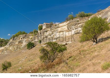 Cupations the southern slopes of the plateau and the medieval Karaite kenesa of the city-fortress Chufut-Kale. Bakhchysaray Crimea