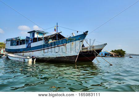 Anchored Boats In Cartagena