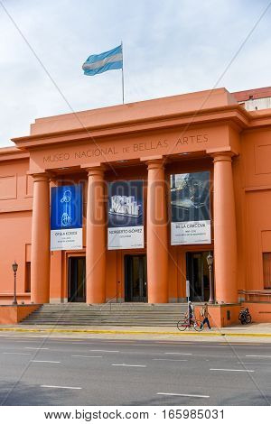 Buenos Aires, Argentina - Nov 24, 2016: National Museum of Fine Arts MNBA is an Argentine art museum in Buenos Aires, located in the Recoleta section of the city.